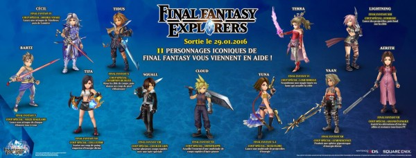FF Explorers Personnages