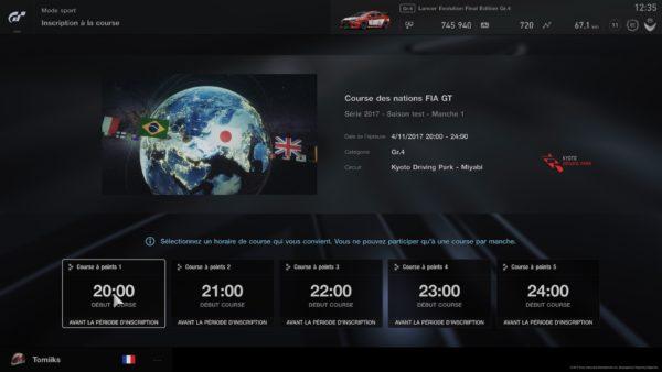 GT Sport courses FIA